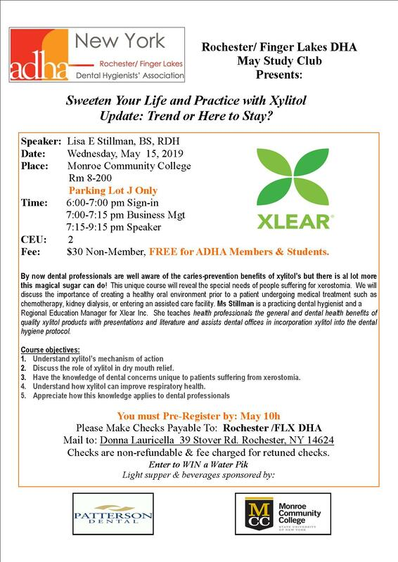 Sweeten Your Life & Practice with Xylitol - Rochester/Finger
